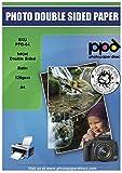 PPD Papel para folletos para impresión de inyección de tinta satinado (utilizable en ambos lados) A4 120 g/m² X 100 hojas PPD-64-100
