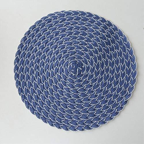 Avin Ronde placemat geweven tafelmat isolatiemat anti-slip disc schaal mat drank onderzetter coaster thuis keuken accessoires