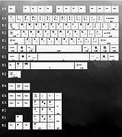 108キーメカニカルキーボード 117キーEnjoyPtキーキャップPBT材料熱昇華プロセス黒グレー (Color : Black grey 117Key)