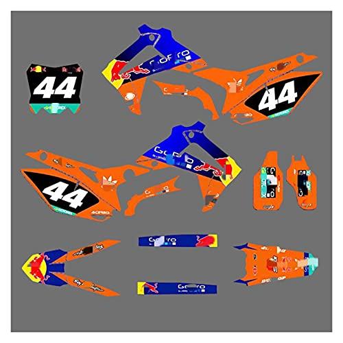 Lhtyouting H0M3099-3149 Calcomanías de Motocicleta 3M Personalizadas Pegatinas Gráficos Gráficos Kit de decancia gráfica para Honda 450R 2013 2014 2015 2016 2016 zxlyt (Color : 6)
