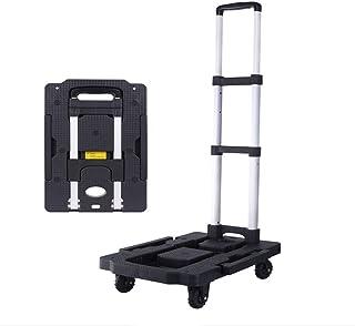 Hållbar vikbar handlastbil, bärbar 5 hjul bagage löpvagn med bungee cord Extended Handle Labour Saving, lämplig för shopping