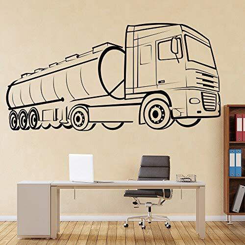 wZUN Wandtattoo Tanker LKW Kunst Vinyl Aufkleber Kinderzimmer Garage Home Dekoration Kindergarten 42X82cm