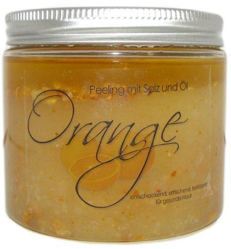 250g ORANGE - Salz-Öl-Peeling mit Orangenschalen-Wellness-Duschpeeling
