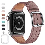 MNBVCXZ Armbänder Kompatibel mit Apple Watch Armband 38 mm 40 mm 42 mm 44 mm,Top Grain Lederband...