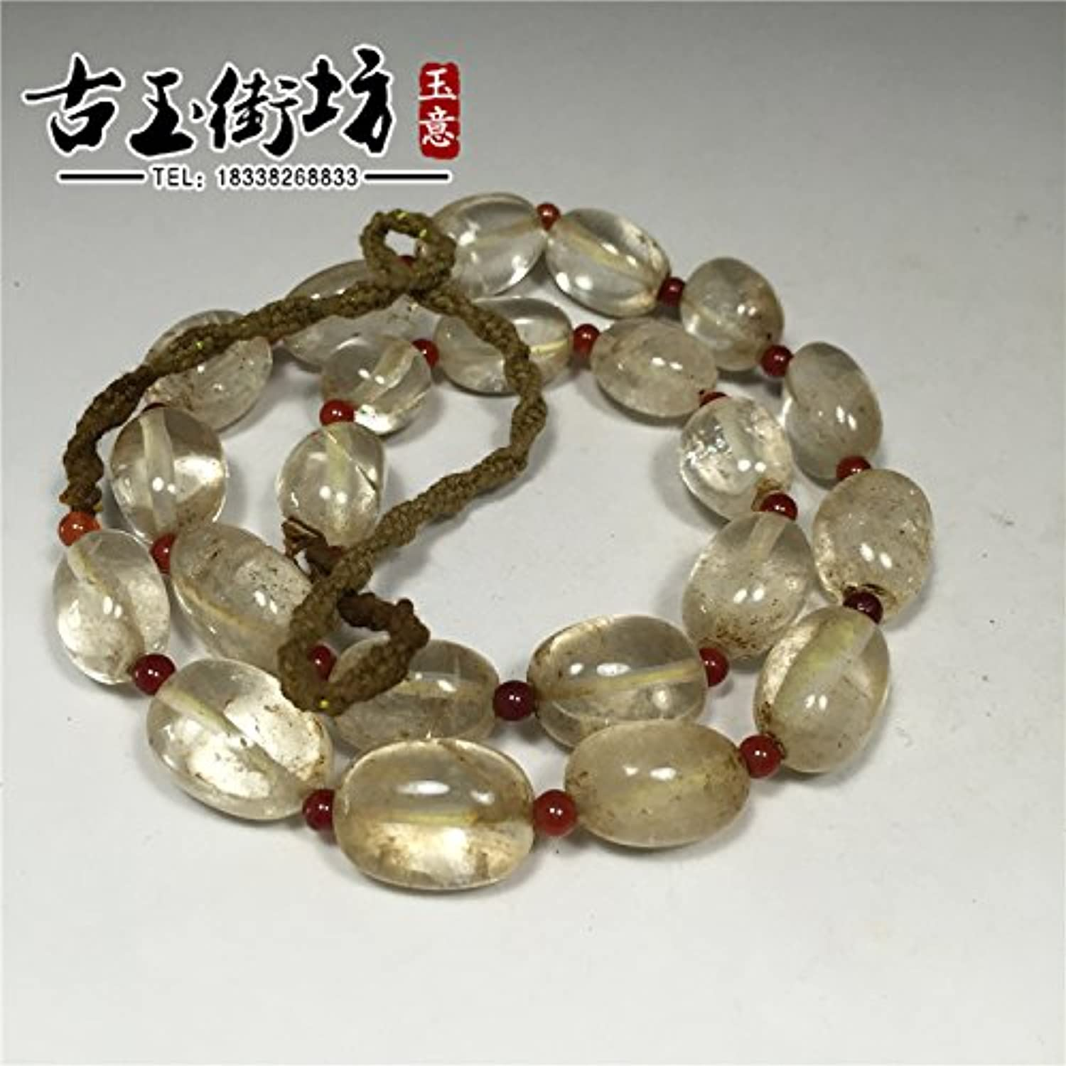 Beads Crystal Bracelets Bead White Old Natural Necklace