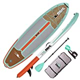 DRIFT Inflatable Stand Up Paddle Board 10'8', SUP with Accessories | Coiled Leash, Pump, Lightweight Paddle, Fin & Backpack Travel Bag, Classic