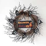 Guirnalda artificial para puerta delantera de Halloween, decoración de fiestas, decoración de fantasma, decoración de fiesta