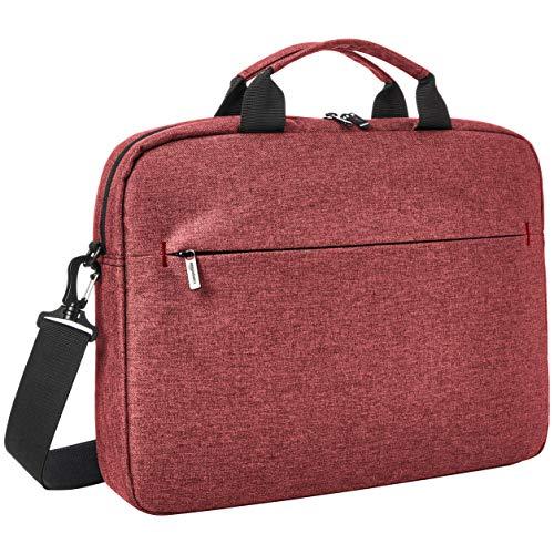 Amazon Basics – Urbane Laptop- und Tablet-Hülle, 17 Zoll (43 cm), kastanienbraun