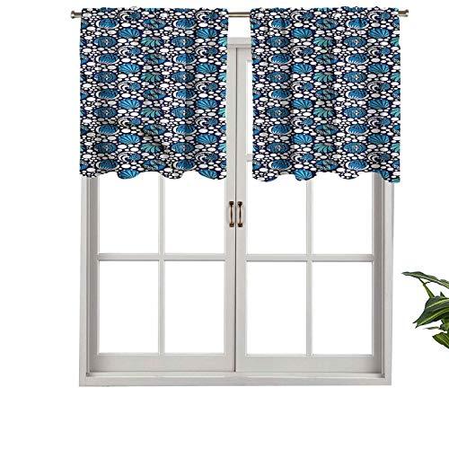 Hiiiman Cortinas cortas, cenefas de cortina con bolsillo para barra, de 91,4 x 45,7 cm para baño y cocina