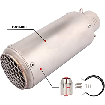 LQW HOME Mufflers 51mm//60mm Motorcycle Pipe Exhaust with DB Killer Motorcycle Exhaust Pipe Muffler for SC Project Carbon Fiber Exhaust Pipe Exhaust Systems Color : A1 51MM