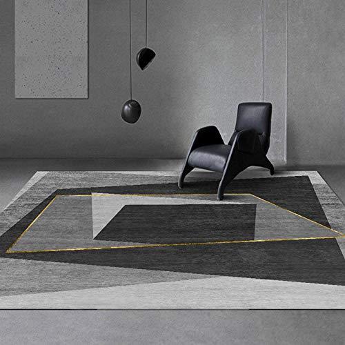 WIVION Geometrie Teppiche Modernes Geometrisches Design Teppich Große Bodenmatte Persönlichkeit Kinderzimmer Matte Übungspads Für Wohnzimmer Schlafzimmer Couchtischi,180x250cm(71x98inch)