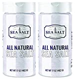 Natural Sea Salt - Premium All Natural, No Additives Fine Grain, Non-Iodized - Table Salt Shaker Replacement - Sea Salt Superstore