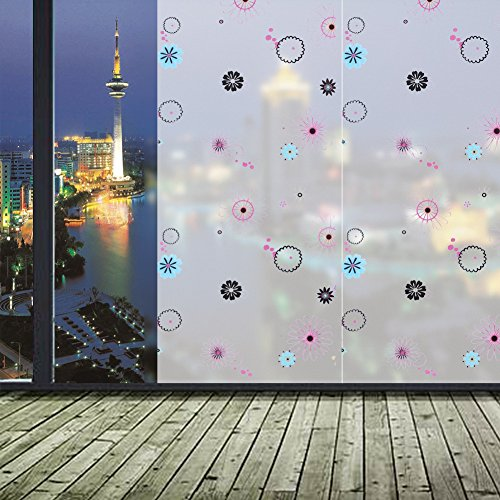 Demiawaking Fenster Aufkleber Fensterstock WC-Trennwand Glas Dekorativ (45x100cm)
