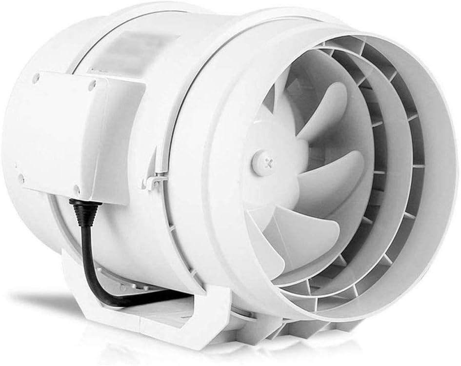 RJSODWL Extractor - Ronda de Fans de tuberías de Gran Alcance silencioso Extintor Cocina Baño Ventilación