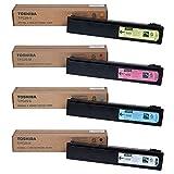 Toshiba T-FC25-K T-FC25-C T-FC25-M T-FC25-Y e-Studio 2040 2540 3040 3540 4540 Toner Cartridge Set (Black Cyan Magenta Yellow, 4-Pack) in Retail Packaging