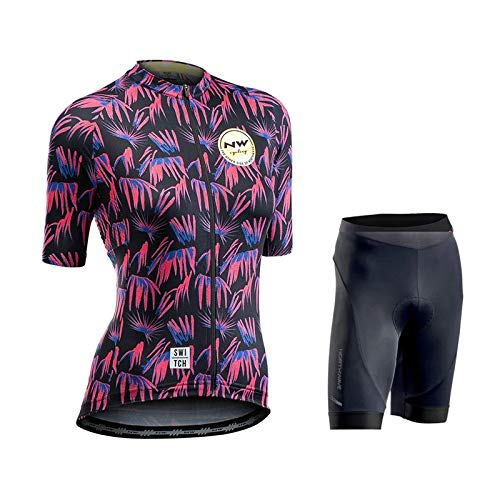 Hplights Conjunto Ropa Equipacion Traje Ciclismo Mujer para Verano, Maillot Ciclismo Mujer+Culotte...