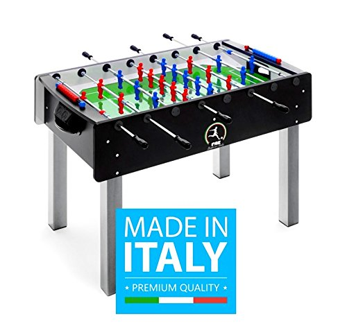 Calciobalilla FAS PRO ITALY NERO Aste Rientranti + Palline + SPRAY LUBRIFICANTE - ESCLUSIVA ITALIA -...