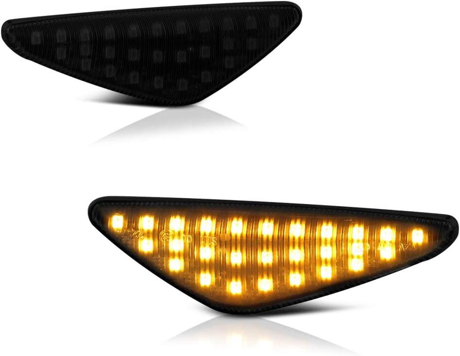 VIPMOTOZ Black Smoke Full LED Front Tur Fender Marker Outlet sale feature Light Side Super sale