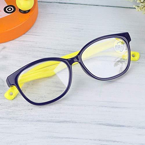 Verres anti-fatigue oculaire pour bébé de lunettes de lumière anti-bleu pour les lunettes de soleil pour enfant en bas âge au gel de silice pour enfants(Bleu)