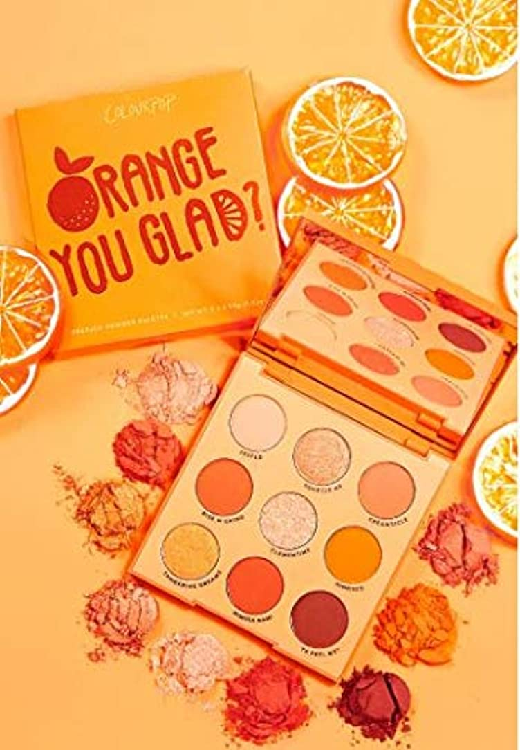タイマー引退するウィスキーカラーポップ (ColourPop) ORANGE YOU GLAD オレンジアイシャドウパレット