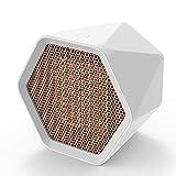 Decdeal Calefactor Ventilador Hexagonal de Escritorio 3 Segundos Calentador de Aire Caliente Protección contra Sobrecalentamiento Ajustable con Calor Carcasa Ignífuga para Oficina/casa