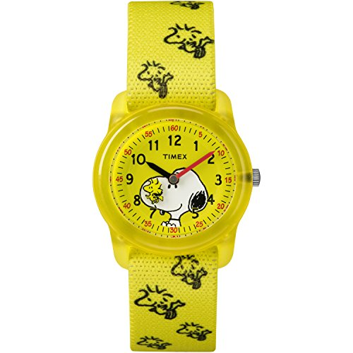 Timex Kids TW2R41500 Time Machines x Peanuts: Snoopy & Woodstock Elastic Fabric Strap Watch