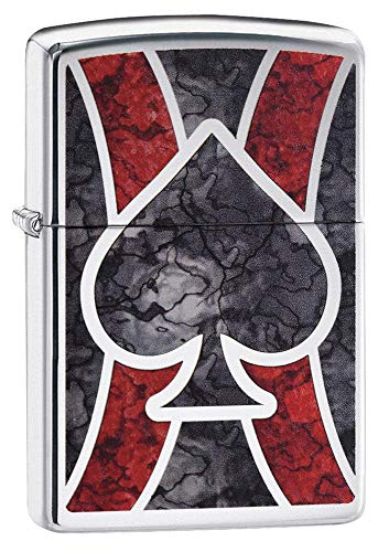 Zippo Ace Fusion, Accendino Antivento, Ricaricabile a Benzina Unisex-Adulto, Cromo Lucido, Regular 5.7 x 3.7 x 1.2 cm