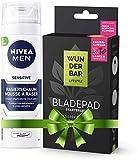 Wunderbar Lifestyle Bladepad - Kit de iniciación con soporte y afilador de cuchillas para todo tipo de afeitadoras húmedas, color blanco