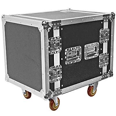 Seismic Audio - SATAC10U - Heavy Duty 10 Space ATA Rack Case with 4 Inch Casters - Pro Audio DJ Rack - 10U Server Network Case by Seismic Audio