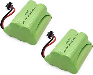 Gecoty Ni-MH Battery Pack,Upgrade 2pcs 6V 2400mAh Recharge AA Battery,Top Race Battery Pack,SM 2P Plug for RC Stunt Car,Remote Control Toys, Lighting, Security Facilities, Electric Tools