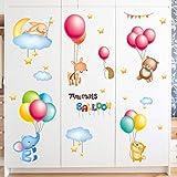 Yubing Flache Wandaufkleber Ballon Muster Wohnzimmer Wanddekoration PVC Wasserdicht Selbstklebend -
