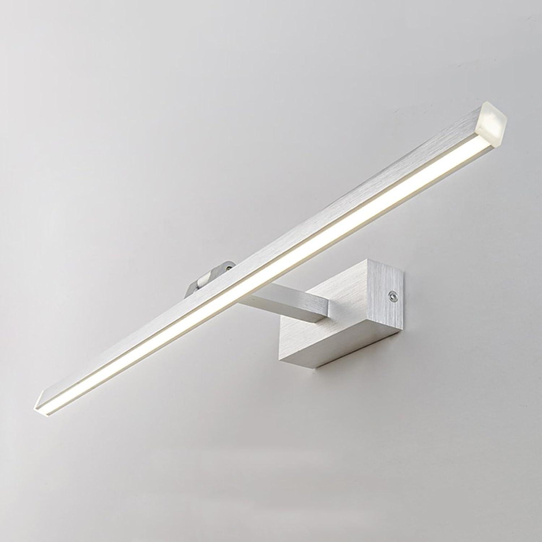 Led Spiegel Scheinwerfer Wasserdicht Nebel Aluminium Led Spiegel Licht Moderne Einfache Hotel Stil Badezimmer Spiegel Licht (Farbe   Silber-31cm)