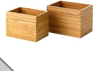 Ikea DRAGAN Lot de 2 boîtes en Bambou