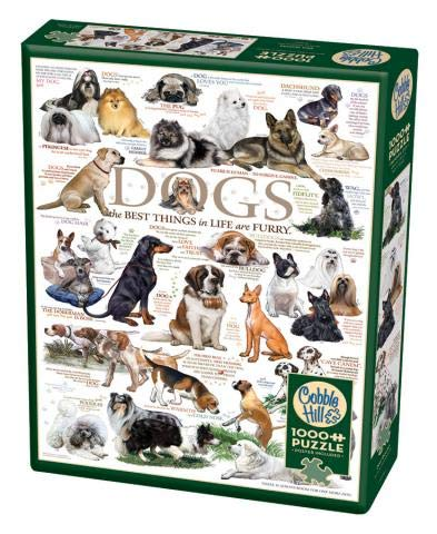 Cobblehill 80096 1000 pc Dog Quotes Puzzle, Various