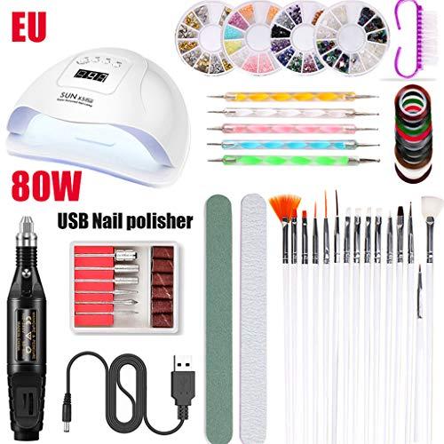 haia7k4k Elektrische Nagelschleifmaschine, Elektroschleifer Polierer Nagelmaniküre-Werkzeug