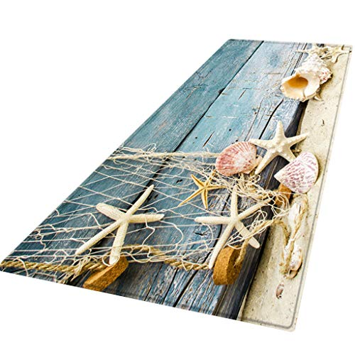 DQANIU 🌸🌸 60X180 cm Heimgebrauch Teppich Flur Fußmatte rutschfeste Teppich Absorbieren Wasser Küche Mat