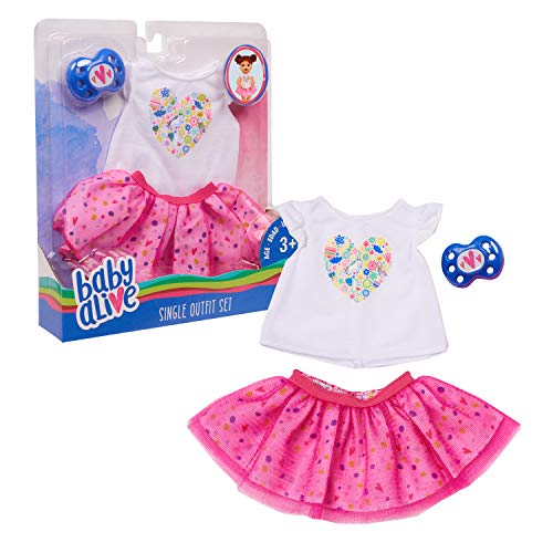 Baby Alive Single Outfit Set, White Tee Pink Tutu