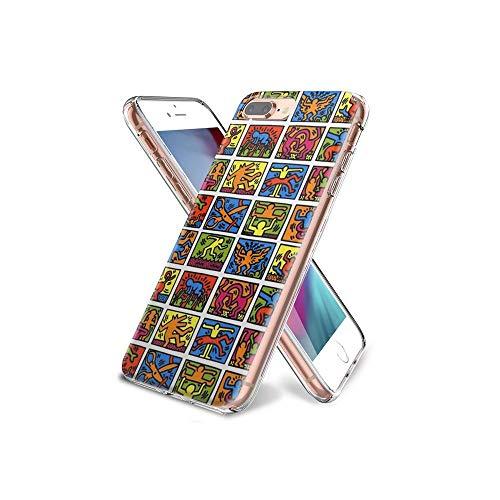 YtSMAO Cover iPhone 7 Plus e iPhone 8 Plus Bumper Cover [Anti-Graffio] [Antiurto] Custodia Trasparente Protettiva Case per iPhone 7 Plus/iPhone 8 Plus #YtD09
