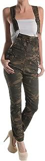 American Bazi Women's Solid Color Skinny Overalls