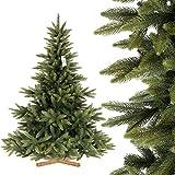 FairyTrees künstlicher Weihnachtsbaum NORDMANNTANNE Premium, Spritzguss &...