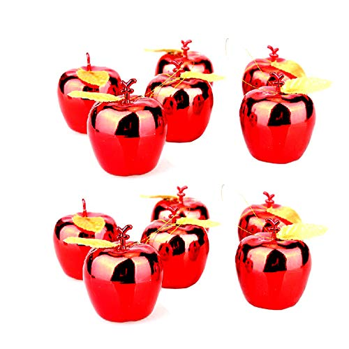 BinaryABC Christmas Xmas Tree Apple Ornaments Decoration,Christmas Tree Pendants,12Pcs (Red)
