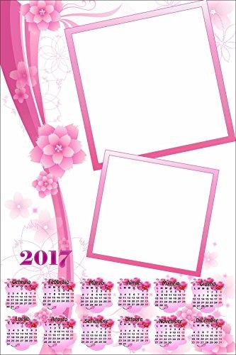 Personalisierte Kalender 2017mit zwei Fotos, Art. 017, Format 30x 45, komplett von Bewerbungsset und fer34Wand.