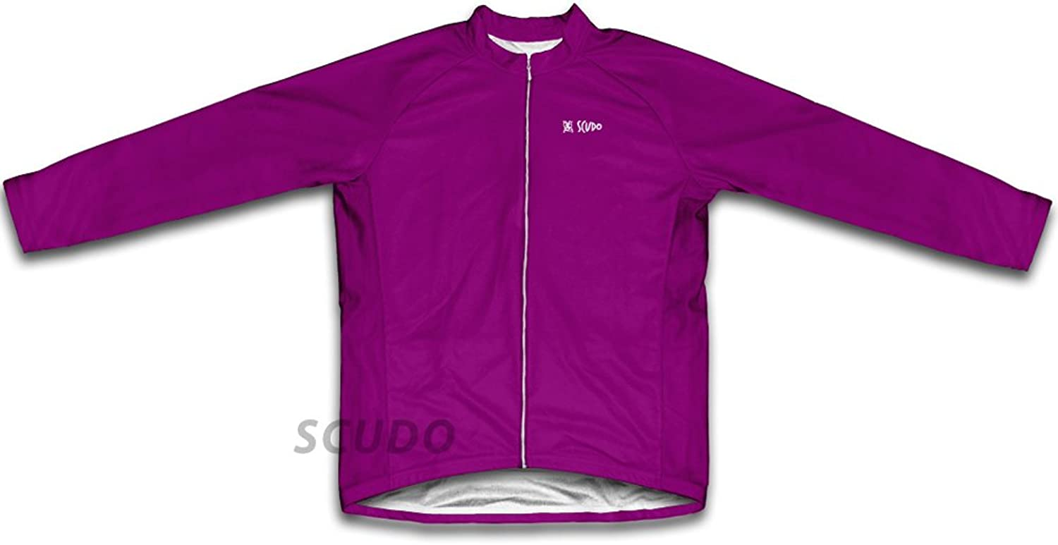 Purple Winter Thermal Cycling Jersey for Women