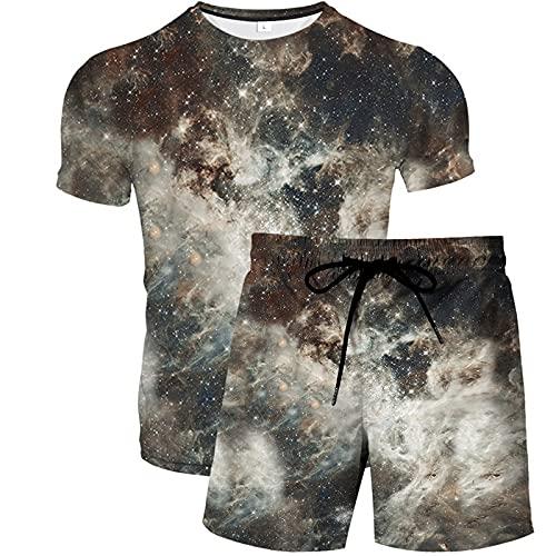 EMPERSTAR Camisetas de Entrenamiento Al Aire Libre para Ejercicio Transpirable para Hombre + Pantalones Cortos Ropa Deportiva Ropa de Baloncesto de Fútbol