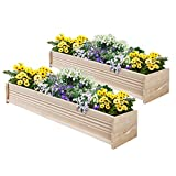 Greenes Fence Cedar Patio Planter Box, 48-Inch, 2-Planters