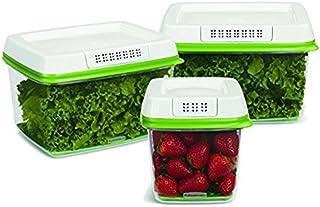 Rubbermaid FreshWorks Produce Saver 3-piece Set 2 x Large (17.3 cups / 4.0L), 1 x Medium (6.3 cups / 1.5L)
