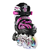 Apollo Super Blades X Pro, Available in S, M, L, LED Inline Skates, Roller Skates for Children, Great for beginners, Comfortable roller skates, Inline skates for girls and boys
