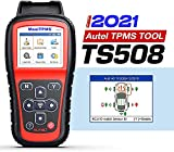 Autel MaxiTPMS TS508 TPMS Relearn Tool, 2021 TPMS Programming Tool for MX-Sensors (315/433 MHz) TPMS Relearn/Activate All Sensors, TPMS Scan Tool Read/Clear DTCs, TPMS Reset (Upgraded of TS408/501)