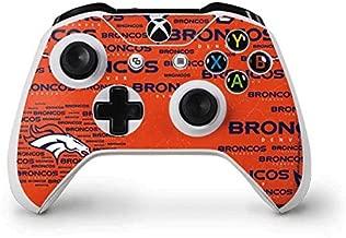 Skinit Decal Gaming Skin for Xbox One S Controller - Officially Licensed NFL Denver Broncos Orange Blast Design