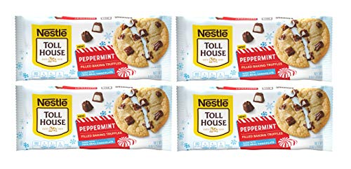 Nestlie Toll House Winter Holiday Peppermint Filled Baking Truffle Chips, 9 Oz (Pack of 4)